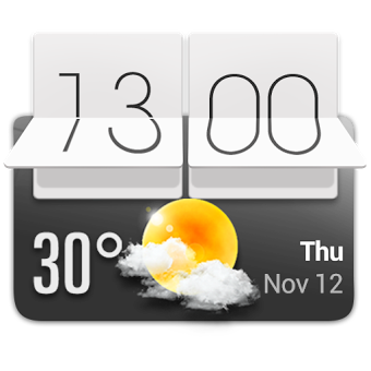 Приложение HTC Sense Style Weather Widget