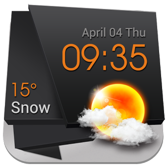Приложение 3D Clock Weather Solid Black