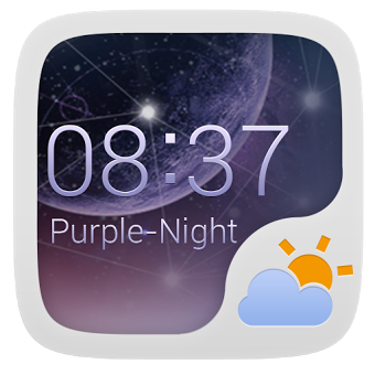 Приложение PURPLENIGHT THEME GO WEATHEREX