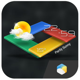 Приложение 3D G-Color Clock Weather Widge