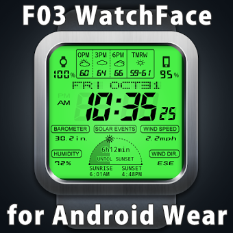 Приложение F03 WatchFace for Android Wear