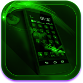Next Launcher Theme FluOGreen